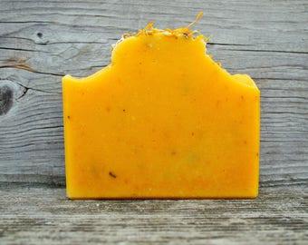 Carrots & Calendula - Carrot Soap, Calendula Soap, Handmade Soap, Organic Soap, Sensitive Skin Soap, Vegan Soap, Unscented Soap