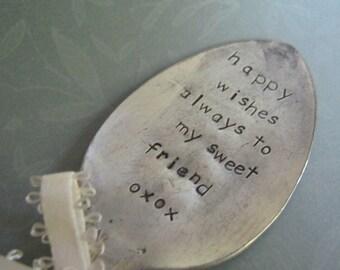 Garden Stampings vintage spoon Sweet Friend