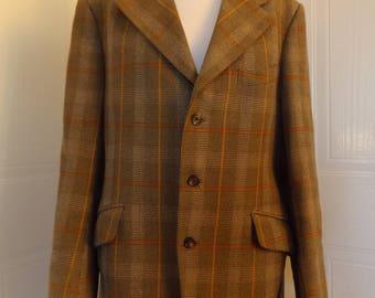 Vintage bladen 60s tweed wool jacket mod supasax 40 medium