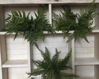 "Set of 3-GORGEOUS 15"" FERNS --LUSH & Beautiful- quality Artificial Fern Bushes"