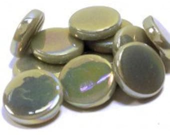 18mm Round Gloss - Light Grey Pearlised - 50g