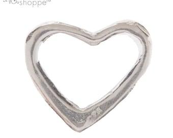 Sterling Silver Open Heart Pendant Jewelry Making Supplies