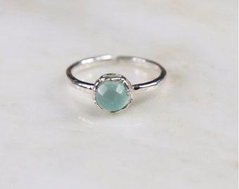 Fine Treasures Aqua Chalcedony Ring
