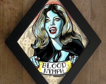Ingrid Pitt from The House That Dripped Blood Diamond framed print