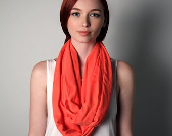 Pink Scarf, Infinity Scarf, Gift for Women, Gift for Mom, Girlfriend Gift, Gift for Wife, Womens Gift, Mom Gift, Girlfriend, Salmon Scarf