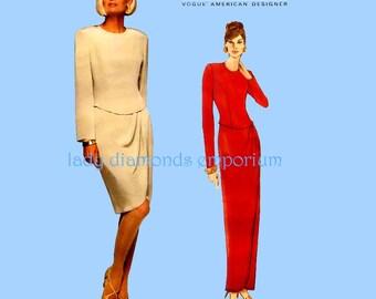 Vogue 1708 Womens Dropped Shaped Waist Evening Dress size 12 14 16 Bust 34 36 38 Vintage Tom & Linda Platt American Designer Sewing Pattern