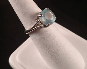 Sky Blue Topaz on Sterling Silver Ring