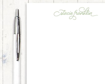 personalized notePAD - SCRIPT AND DOTS - stationery - stationary - fun note pad - letter writing paper - custom pad