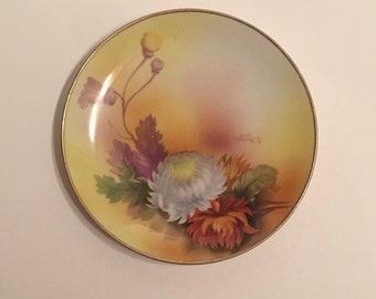 Vintage Japanese Noritake hand-painted Plate. Signed by T. Howzen