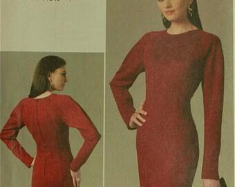 """Dress, Seam Detail - 2010's -  Vogue Pattern 8744 Uncut  Sizes 6-8-10-12  Bust  30.5-31.5-32.5-34"""""""