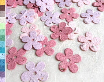 100+ Seed Paper Confetti Flowers - Daisy Wedding Favors - Flower Seed Plantable Paper Daisies - Blush Pink Rose White