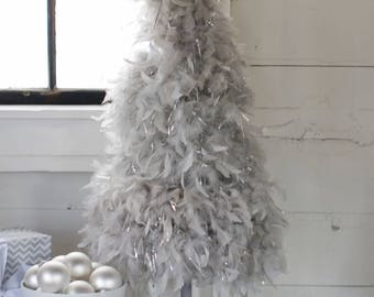 """32""""  Gray  """"American"""" Feather Tree"""