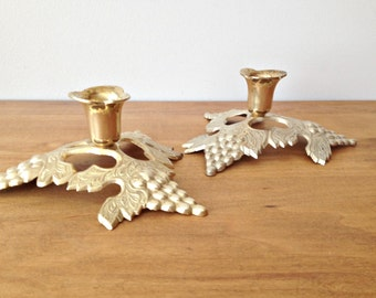 Brass Candlesticks Candle Holders Grapevine