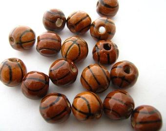 20 Basketball Beads (small)