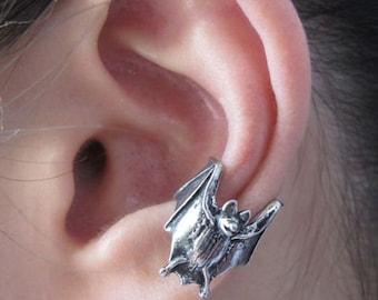 Bat Ear Cuff Pewter Bat Ear Cuff Bat Jewelry Non Pierced Earring Non Pierced Ear Cuff Ear Wrap Bat Stuff Pewter Ear Cuff Bat Earring Gothic
