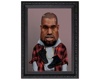Kanye West Caricature Poster or Art Print