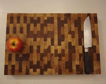 Oiled oak cutting board