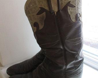 Vintage Womens Tony Lama Cowboy Boots - UK Size 4 To 4.5 - Lovely!!