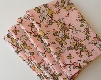 Floral Asian Bridal, 12x12 Cotton Napkins, Set of 6