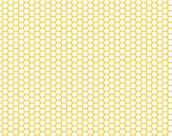 Riley Blake - Honeycomb Dot Yellow - Fabric by the Yard