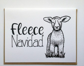 FLEECE Navidad - Hand Lettered Greeting Card