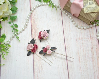 Wedding hair pin Bridal hair Flower hair pin Bridal hair flower Romantic wedding headpiece Bridal hair piece Flower in hair Woodland wedding