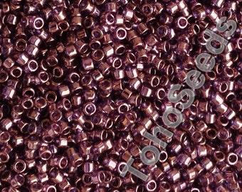 5g Toho 11/0 Treasure Cylinder Seeds Beads Gold Lustered Amethyst TT-01-201 Cylinder Rocailles Violet Lilac