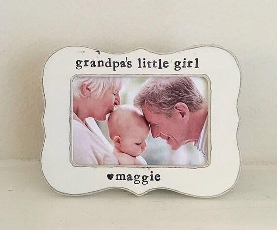Grandpas little girl picture frame, GIFT for grandpa, papa frame ...