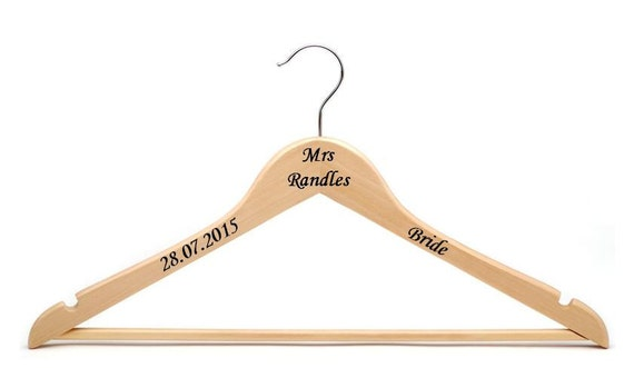 Personalised vinyl wedding hanger decal sticker diy diy