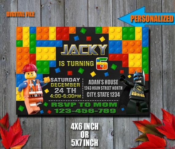 Lego Invitation / Lego Batman Invitation / Lego Birthday