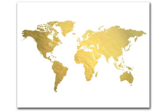 welt karte drucken goldfolie map gold weltkarte gold karte. Black Bedroom Furniture Sets. Home Design Ideas