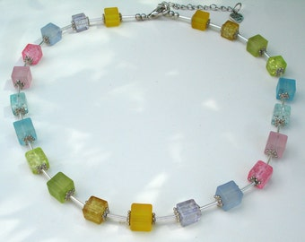 Rainbow Necklace in Pastels