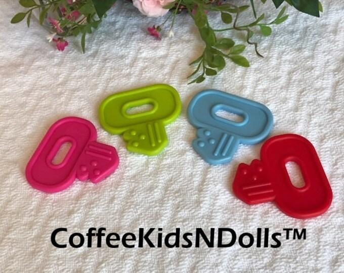 Baby Key Teething Toy // Stroller Toy // Birthday Party Favor //  Baby Toys // Teething Toy // Toy Making Parts // Baby Teething // Handmade