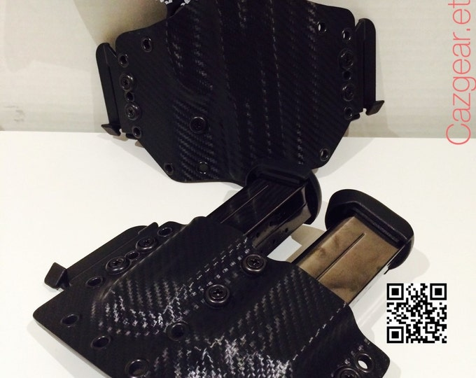 FN FNX 45 Black Knight and Squire Outside Waistband Carbon Fiber Holster/Mag Combo.