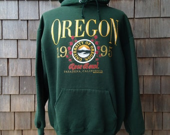 90s vintage Oregon Ducks hooded sweatshirt - 1995 Rose Bowl - XL - University football - hoodie