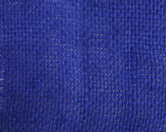 "Blue Burlap Fabric 60"" wide Per Yard"