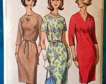 "Vintage dress sewing pattern - Simplicity 6281 - size 18.5 (39"" bust) - 1960's"