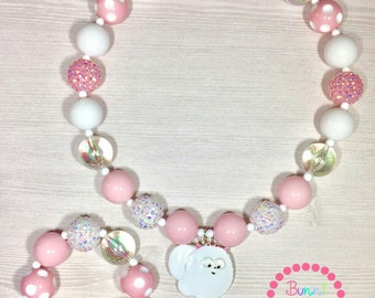 The Secret Life of Pets Gidget Bubblegum Chunky Necklace Set