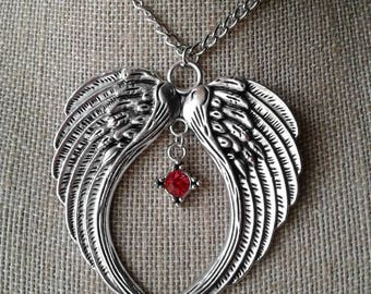 Large Angel Wings Necklace