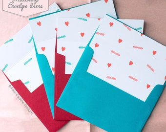 Printed Matching Envelope Liner | A2 Sized Liner | He's Marrying Me But He's Stuck With Us Card | Card to Ask Your Bridesmaid, MOH, etc