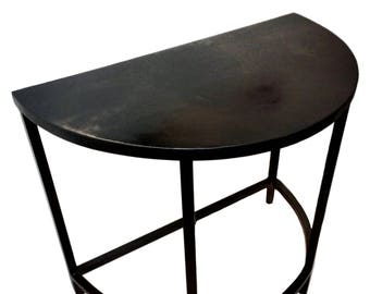 Half Moon Table, Demilune Table, Console Table, Accent Table, Metal Table,  Small Table, Black Table, Custom Table, Industrial Table, Custom