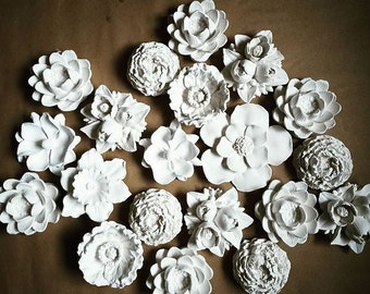 Wall flower sculptures, flower sculpture collection, nursery wall decor, modern floral decor, indoor garden
