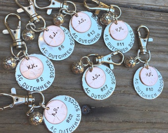 Soccer Gift, Sport Team Gift, High School Sports Keychain, Volleyball Keychain, Personalized High School Sport Keychain, Football