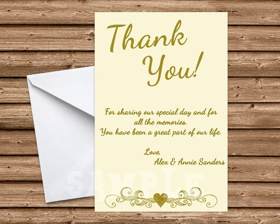 Ivory Wedding Anniversary Thank You Cards