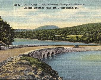 Mt. Desert Island, Maine, Otter Creek, Champlain Mountain - Postcard - Vintage Postcard - Unused (JJ)
