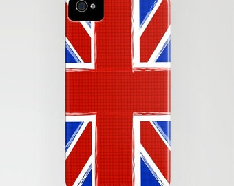 The union jack flag on Phone Case - Great Britain,  Samsung Galaxy S7, iPhone 6 Plus , Gifts for him, iPhone 8