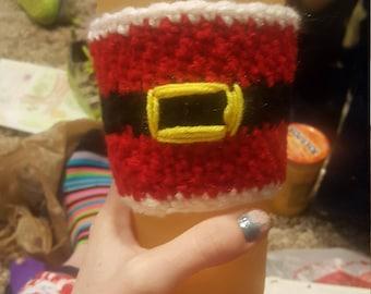 Santa coffee cup cozy