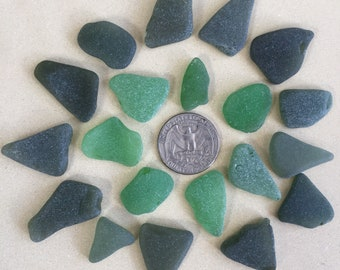 Sea Glass | 20 pieces green