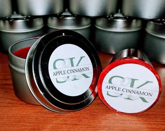 Scented Soy Votive Candle - Apple Cinnamon | Scented Candles | Handmade | Hand Poured | Cruelty Free | Gift Ideas | Red Candles | Fruity