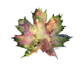 Autumn Leaf Meditation - Archival Print